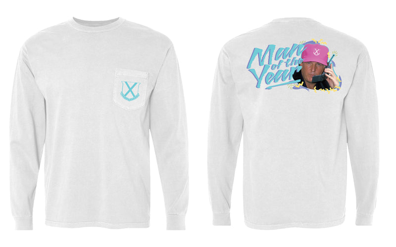 Man of the Year Long Sleeve Pocket Tee