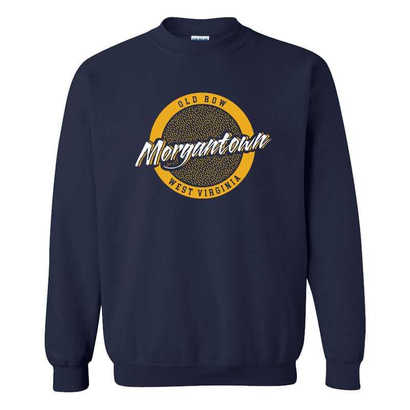 Morgantown, West Virginia Circle Logo Crewneck Sweatshirt