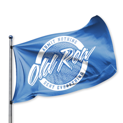 Old Row Retro Circle Flag - Blue