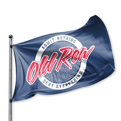 Old Row Retro Circle Flag - navy