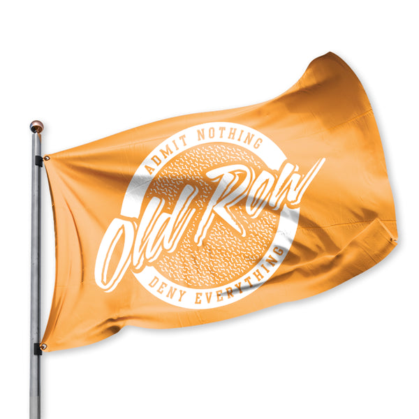 Old Row Retro Circle Flag - Orange