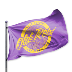 Old Row Retro Circle Flag - Purple