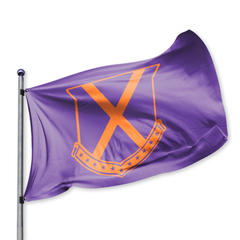 Old Row Crest Tailgate Flag - Purple Orange