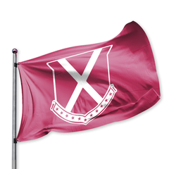 Old Row Crest Tailgate Flag (Crimson)