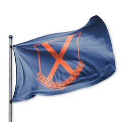 Old Row Crest Tailgate Flag (Navy)