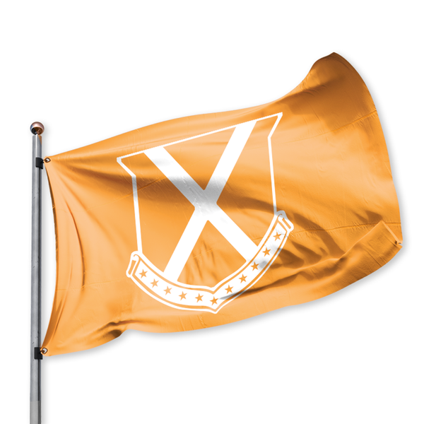 Old Row Crest Tailgate Flag (Orange)