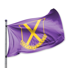 Old Row Crest Tailgate Flag (Purple)