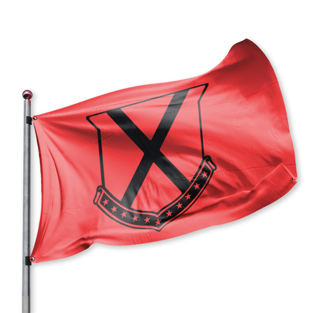 Old Row Crest Tailgate Flag (Red)