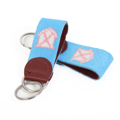 Rad Chicks Needlepoint Key Fob