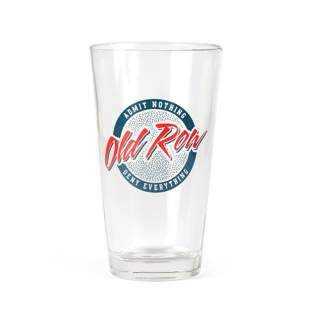 Old Row Circle Logo Pint Glass
