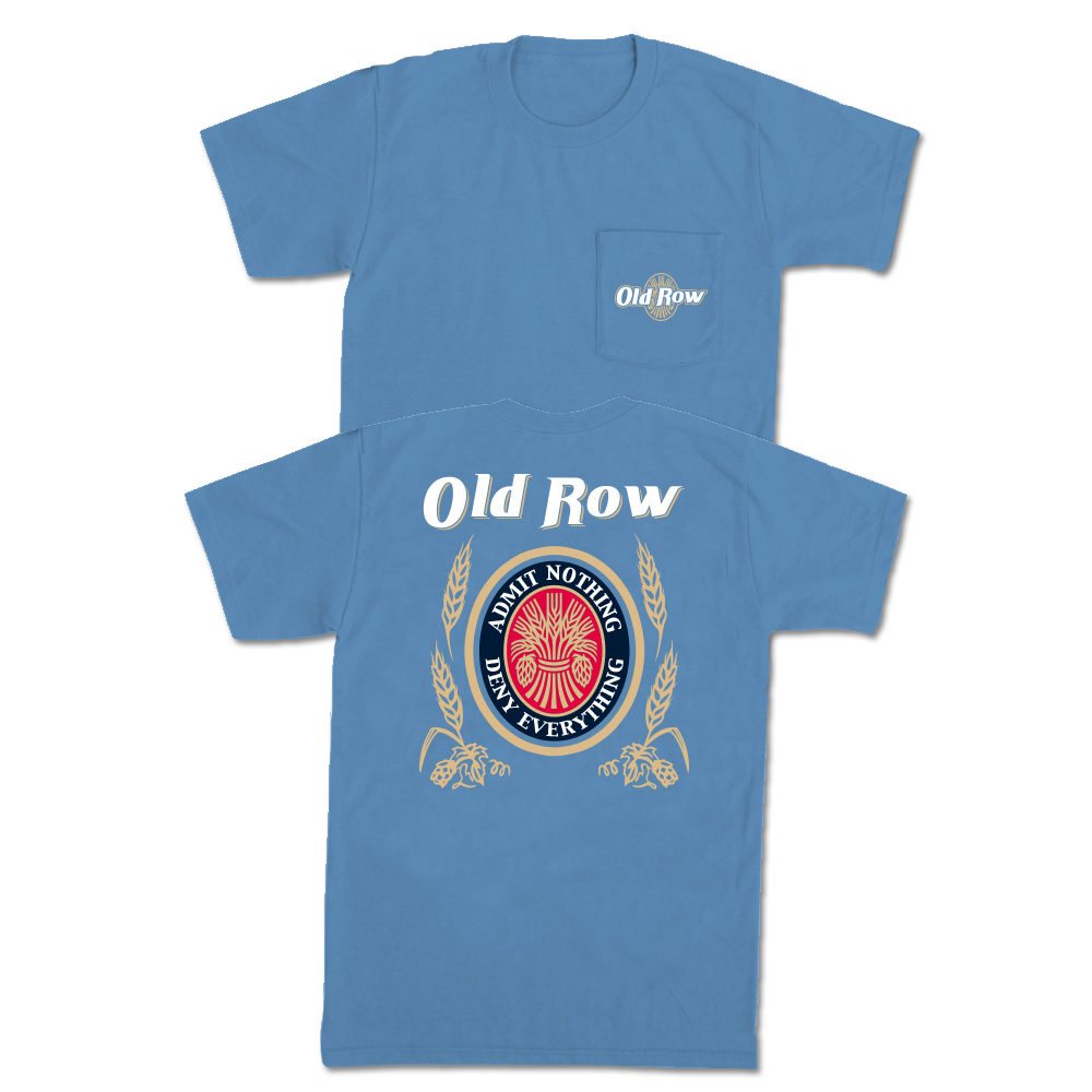 Old Row Retro Can Pocket Tee (Blue)
