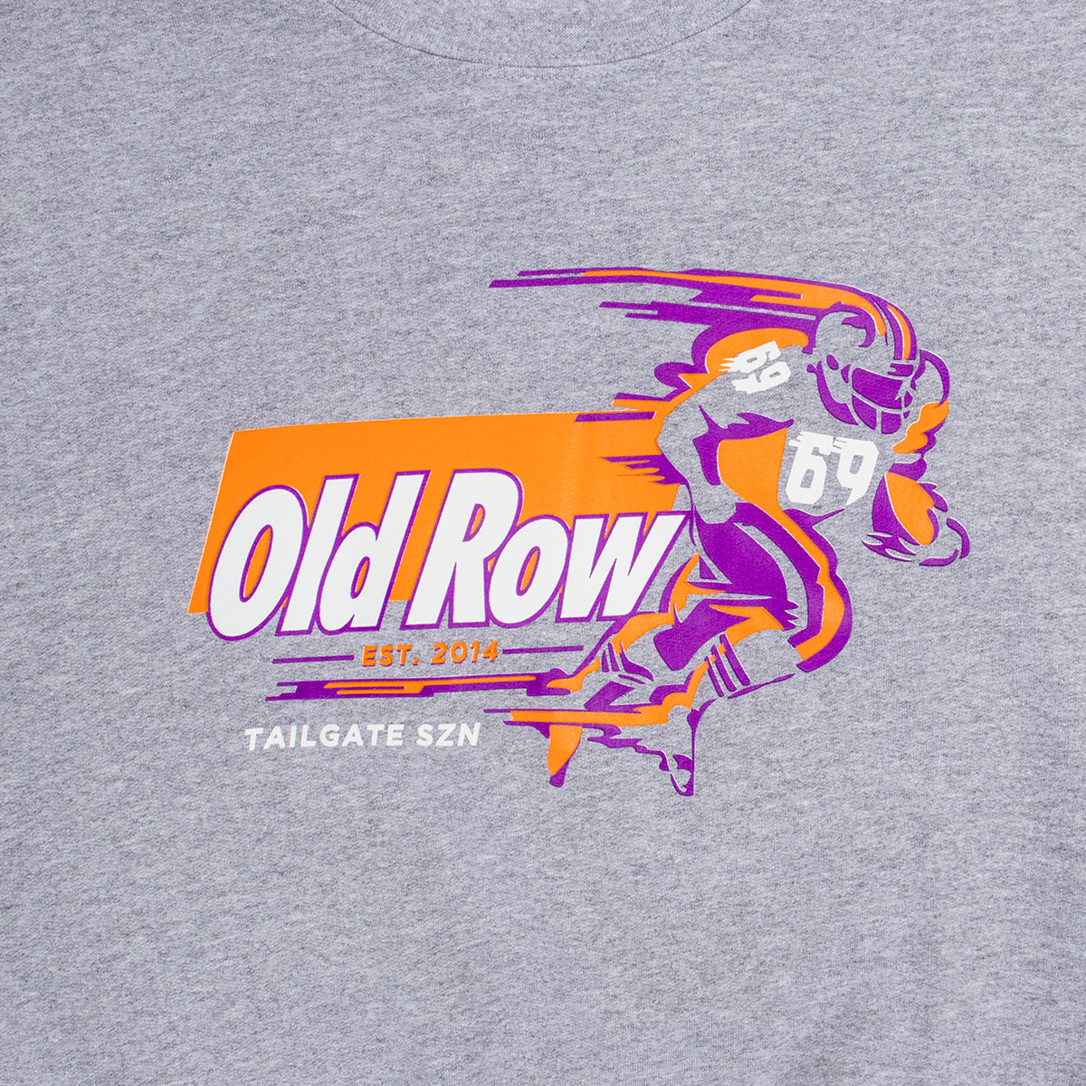 Old Row Tailgate SZN Crewneck Sweatshirt (Purple/Orange)