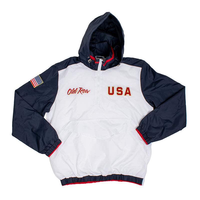 Old Row Retro USA Windbreaker Jacket