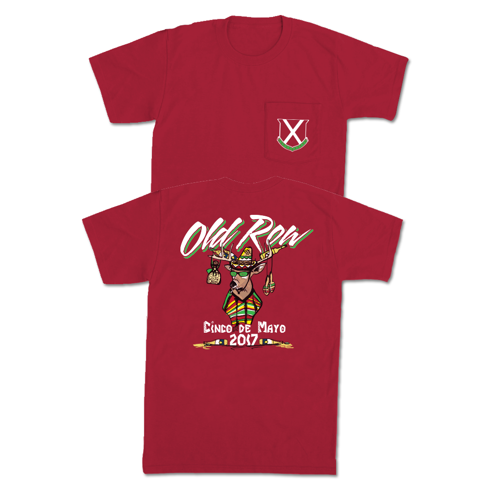 Cinco De Mayo Party Buck Pocket Tee