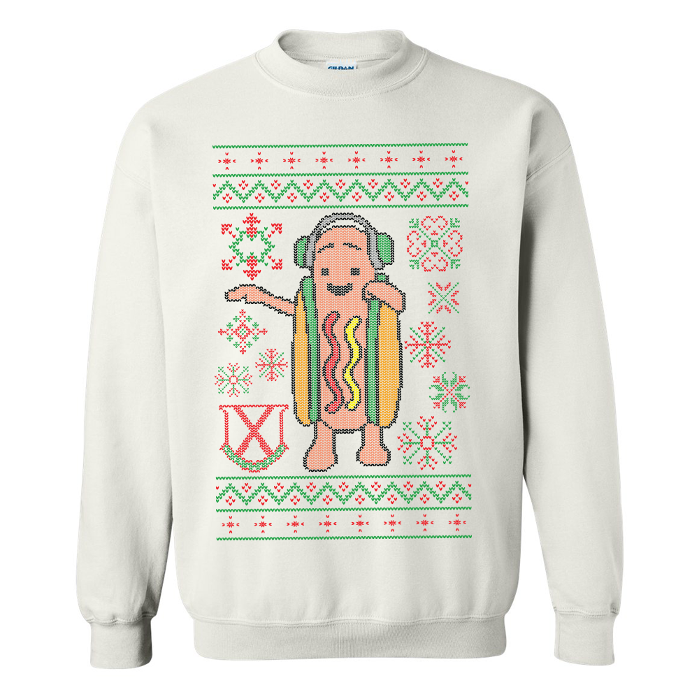Dancing Hot Dog Tacky Sweater