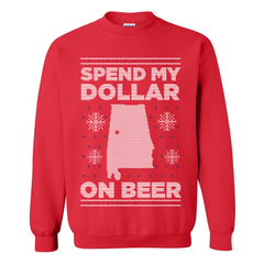 Spend My Dollar Tacky Christmas Sweater