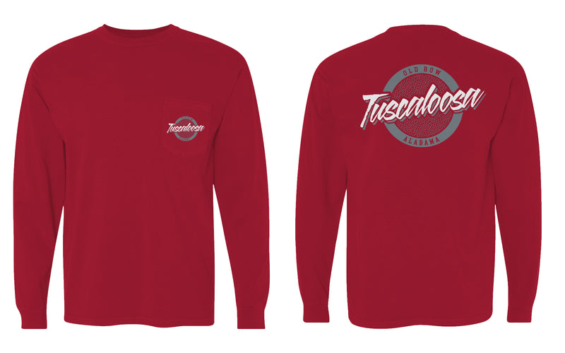 Tuscaloosa, Alabama Circle Logo Longsleeve Pocket Tee