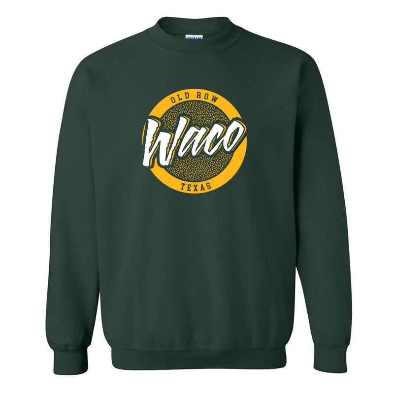 Waco, Texas Circle Logo Crewneck Sweatshirt