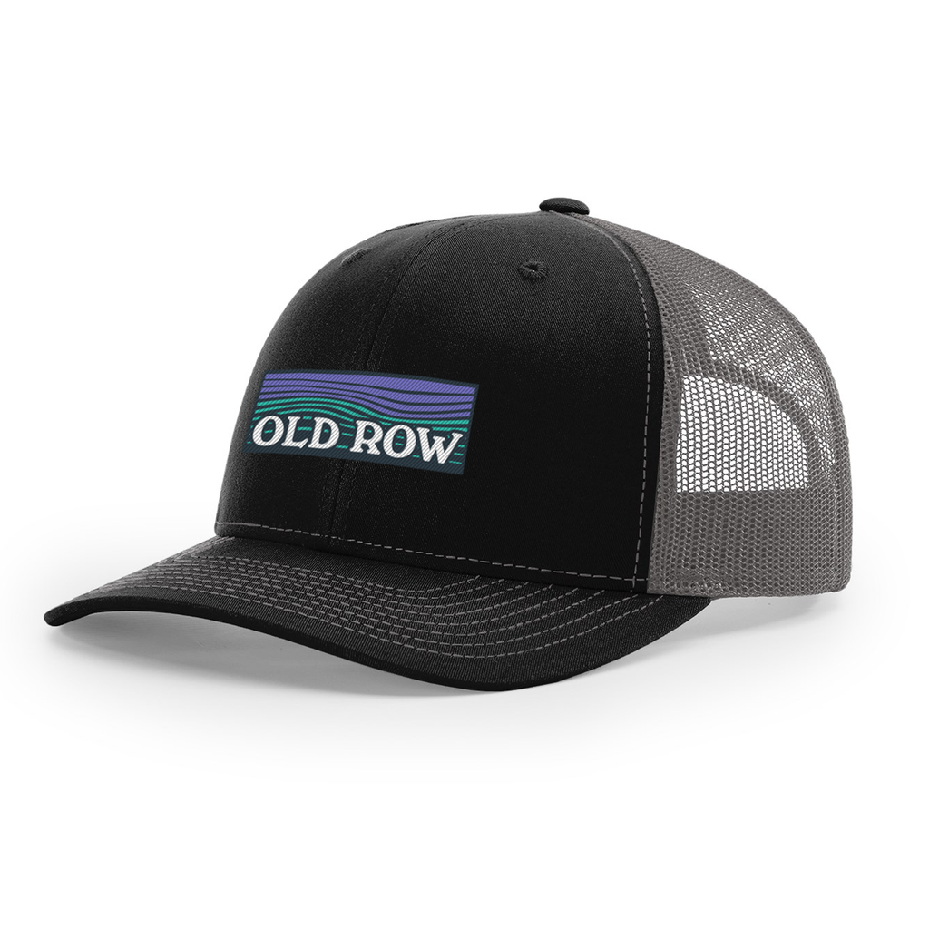 Old Row Waves Mesh Back Hat (Black/Charcoal)