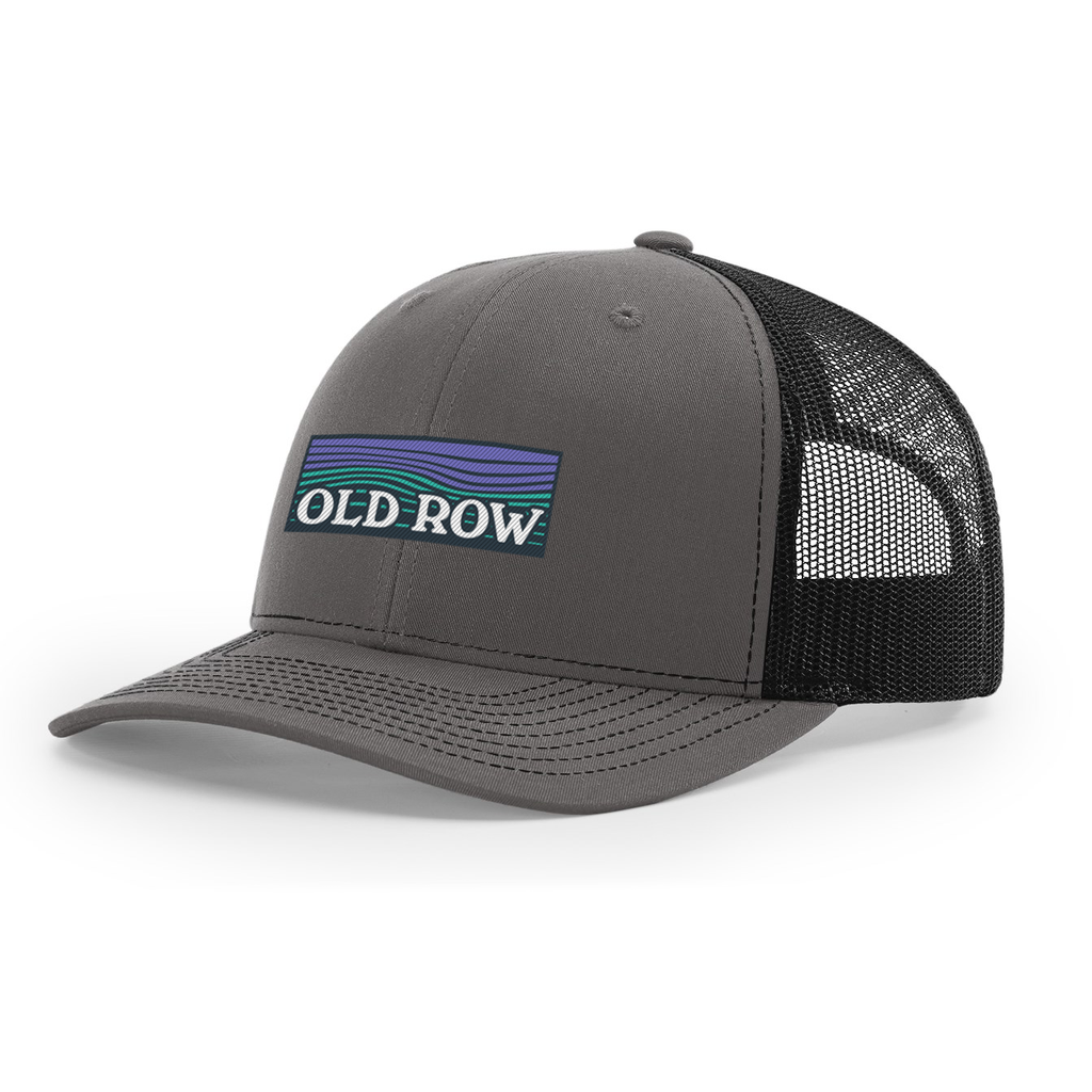 Old Row Waves Mesh Back Hat (Charcoal/Black)