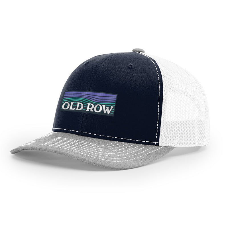 Old Row Waves Mesh Back Hat (Navy/White/Grey)
