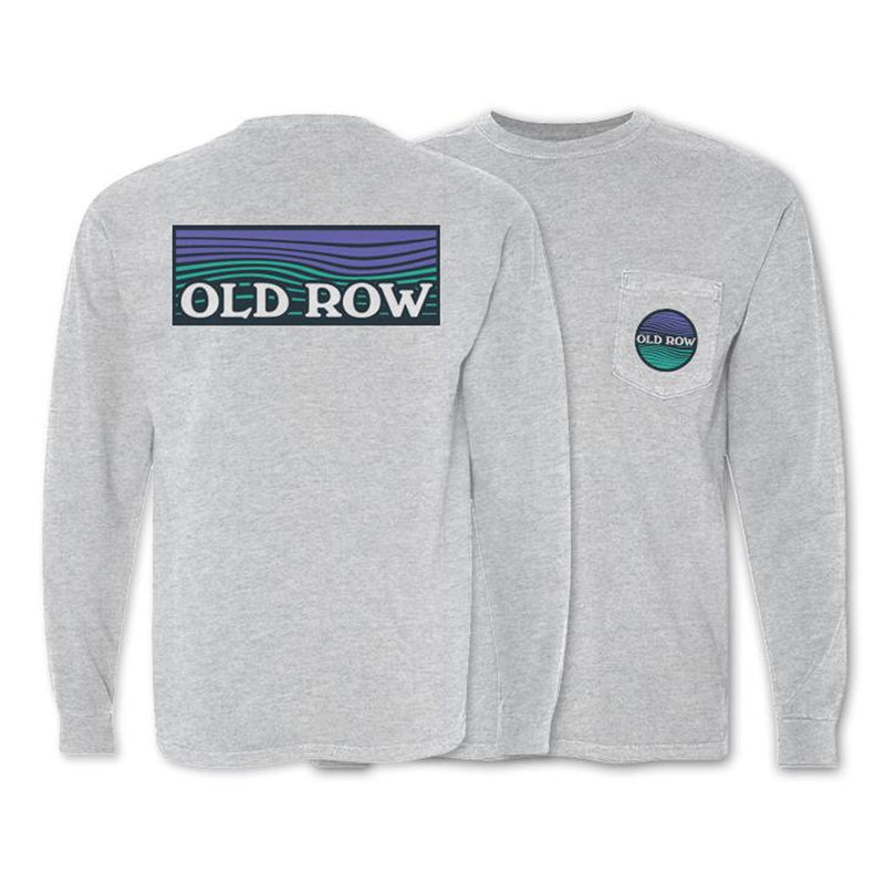 Old Row Waves Long Sleeve Pocket Tee