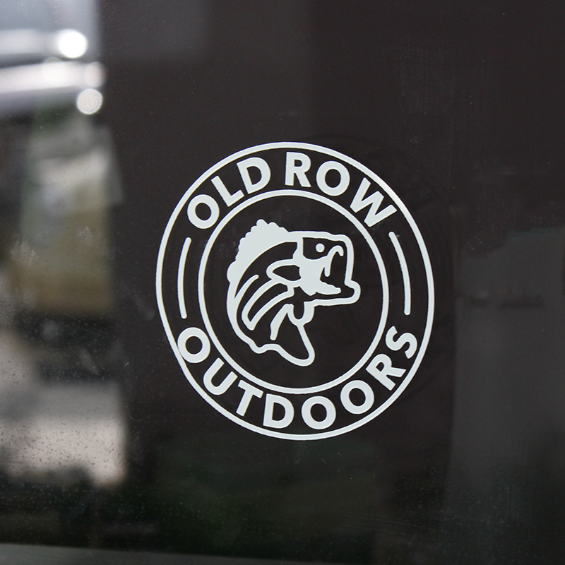 Old Row Outdoors Bass Decal