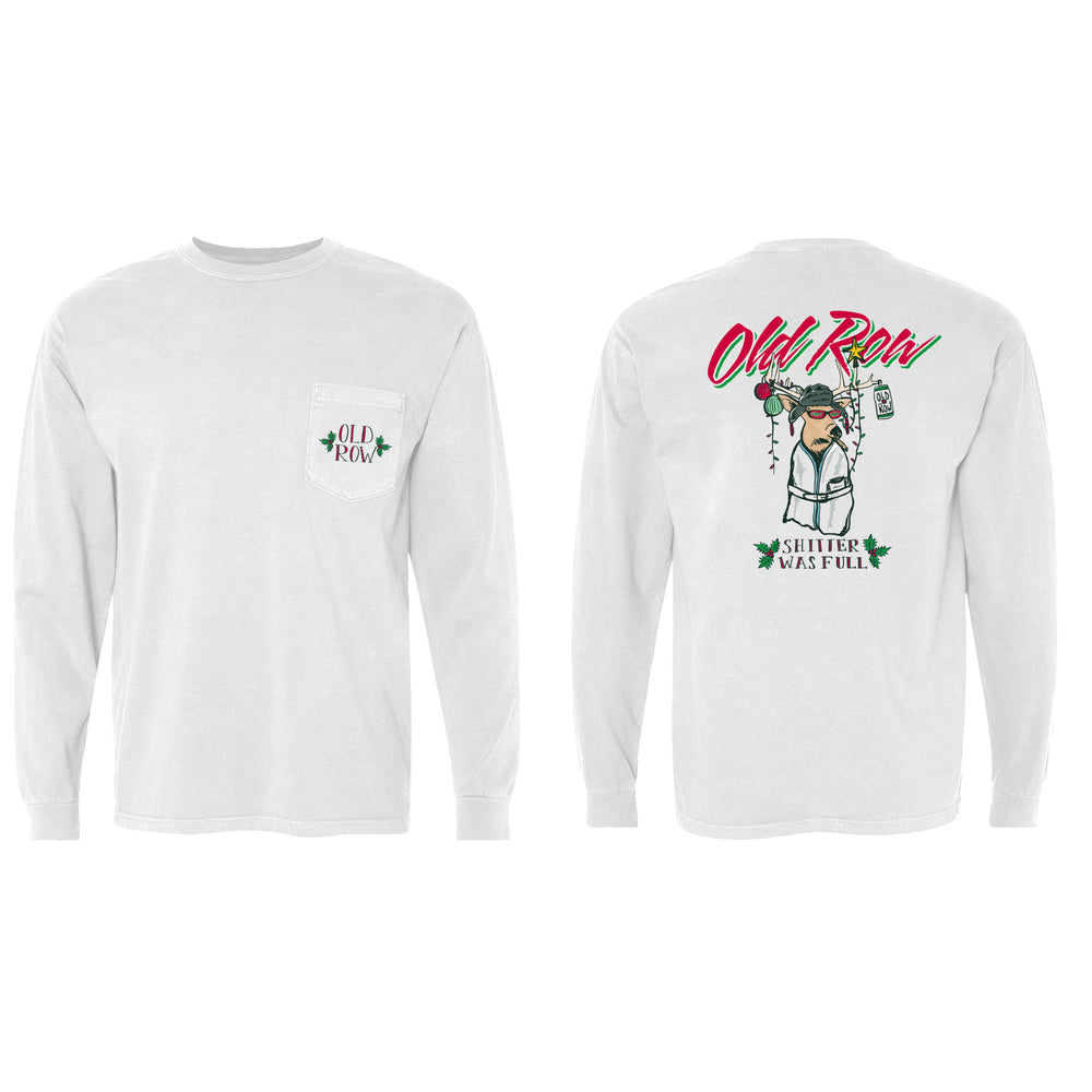 Christmas Party Buck Long Sleeve Pocket Tee