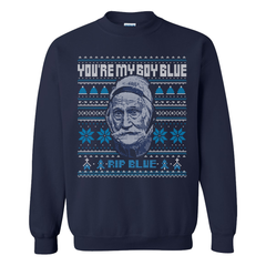 RIP Blue Tacky Christmas Sweater