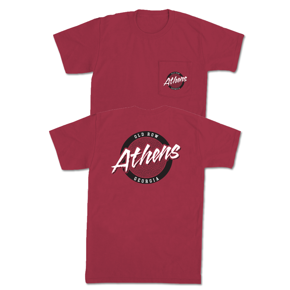 Athens, Georgia Circle Logo Pocket Tee