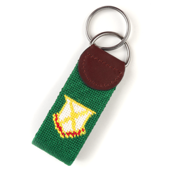 Old Row Golf Needlepoint Key Fob
