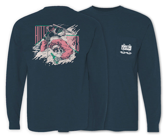 Hitting the Slopes V5 Long Sleeve Pocket Tee
