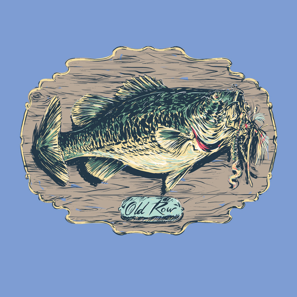 Old Row Outdoors Trophy Bass Pocket Tee