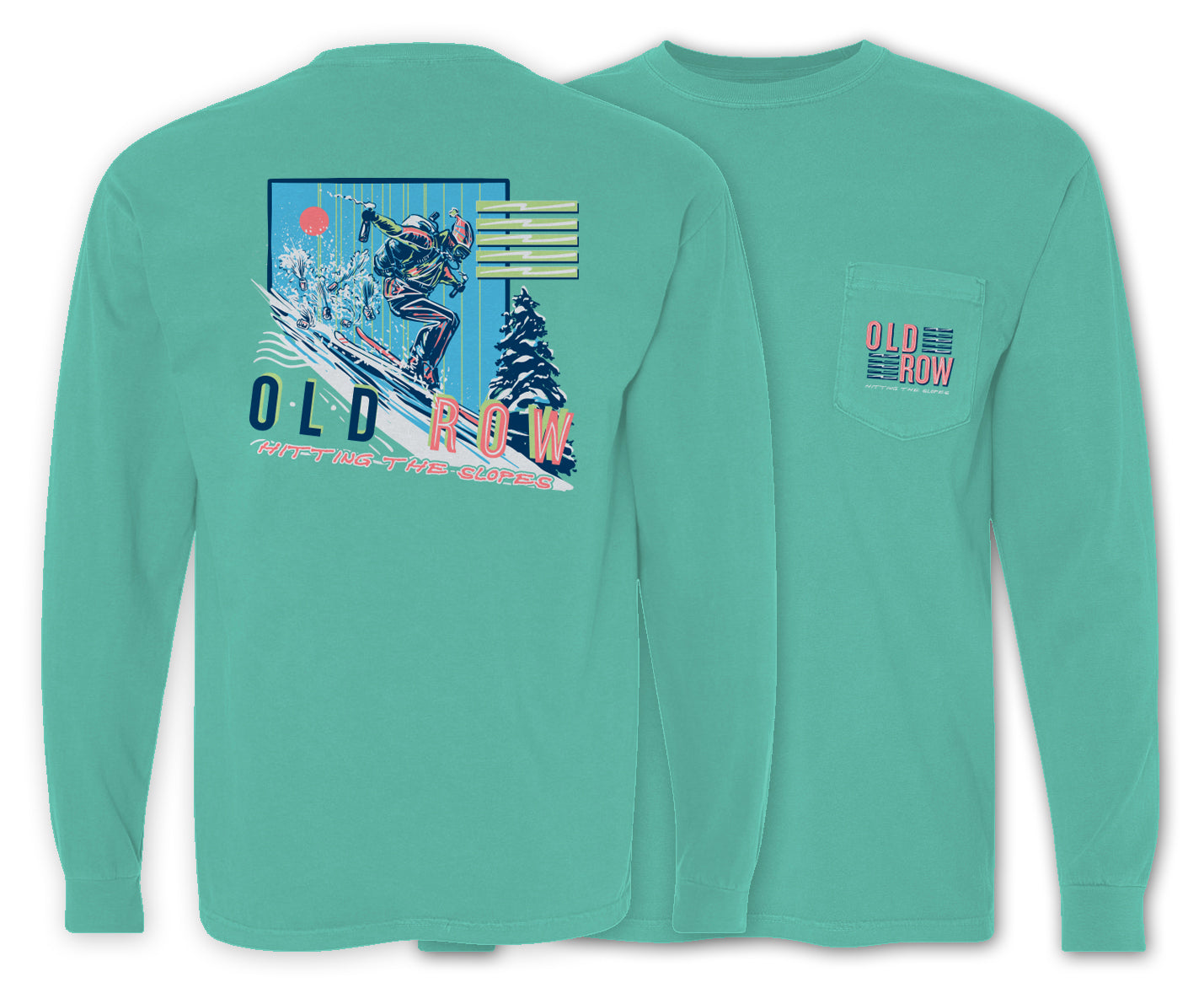 Hitting the Slopes V6 Long Sleeve Pocket Tee