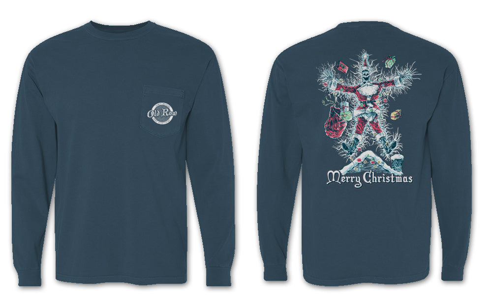 Old Row Christmas Long Sleeve Pocket Tee