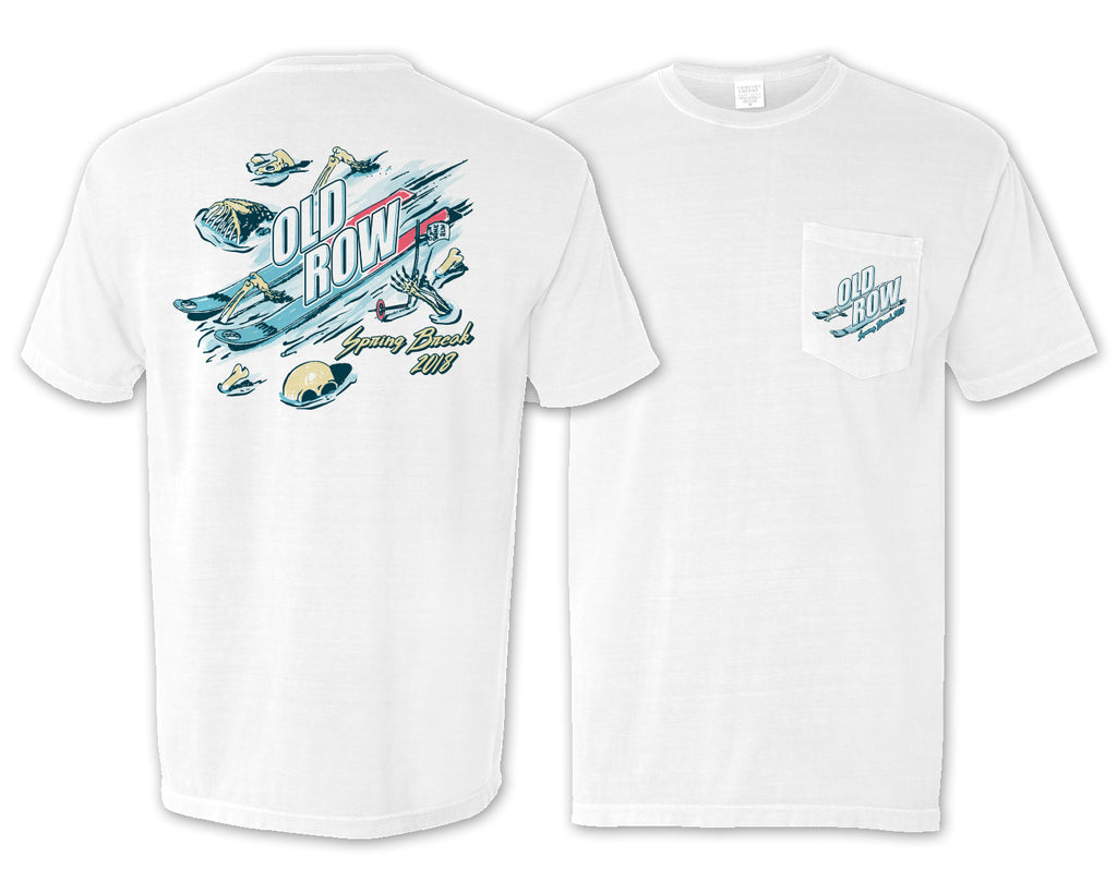 Spring Break Ski Pocket Tee