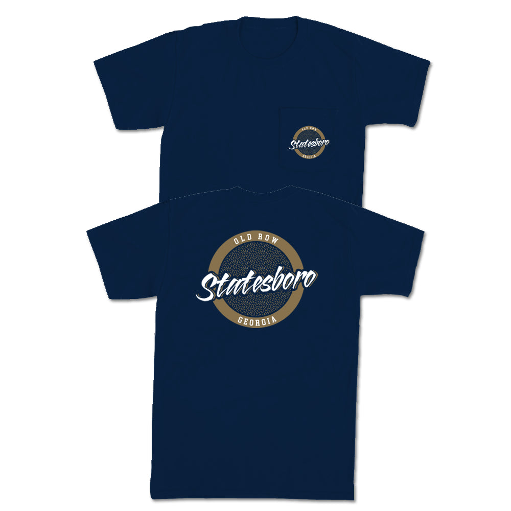 Statesboro, Georgia Circle Logo Pocket Tee
