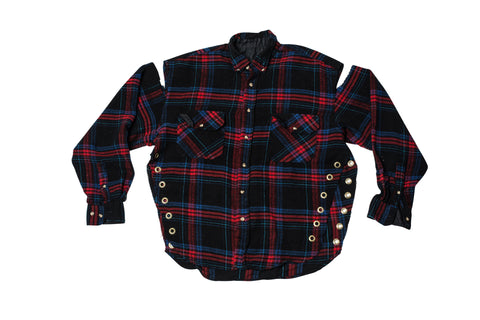FLANGE FACE //  BLACK & RED FLANNEL