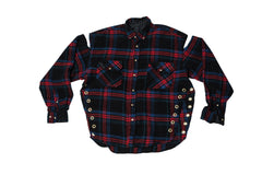 FLANGE FACE // LARGE BLACK & RED FLANNEL