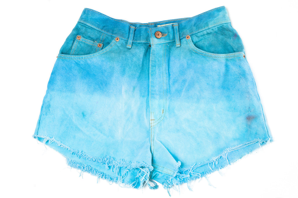 HIGH WAIST DENIM SHORTS // NATURAL ANTHEM