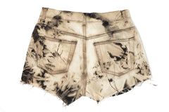 High Waisted Tie Dye Studded Shorts Back