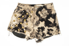 High Waisted Tie Dye Studded Shorts