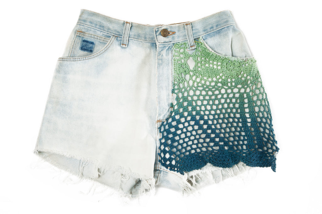 HIGH WAIST DENIM SHORTS // ROSIE OH