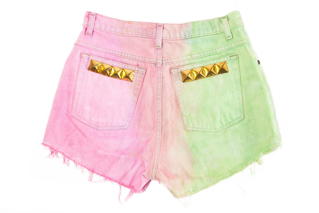 HIGH WAIST DENIM SHORTS // TWO AGAINST ONE