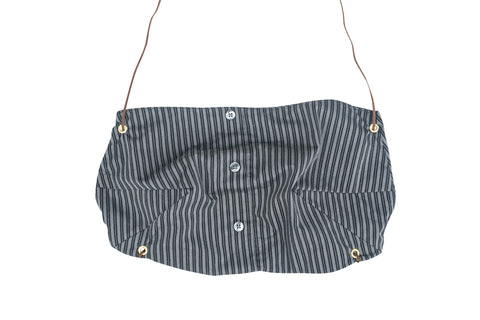 TIED2U // GRAY STRIPED CROP