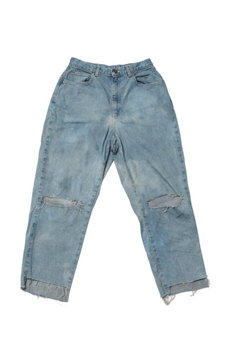 TURN BLUE // ACID WASH DISTRESSED DENIM JEANS
