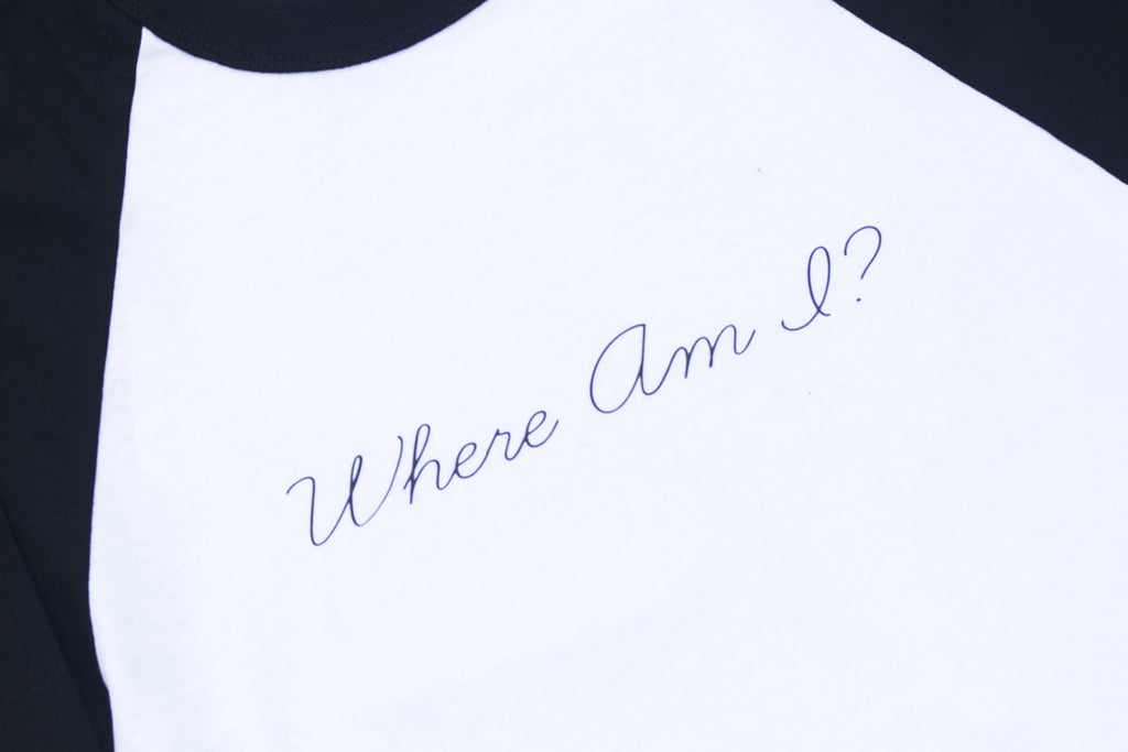 WHERE AM I // MENS SMALL RINGER TEE