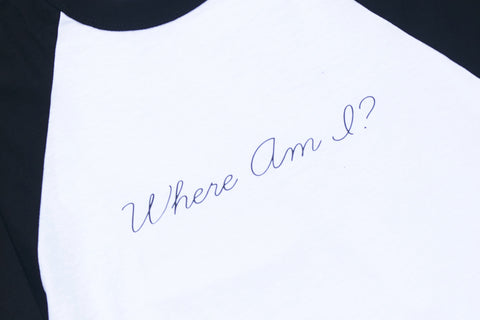WHERE AM I // MENS LARGE RINGER TEE