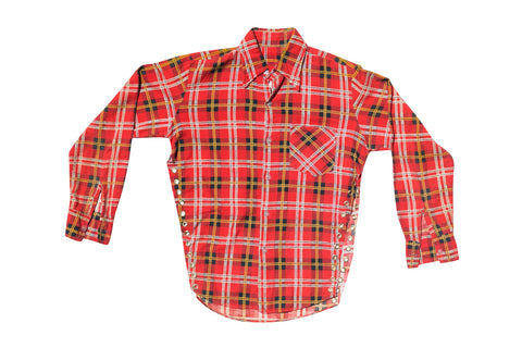 FLANGE FACE // RED AND YELLOW PLAID FLANNEL