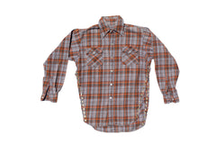FLANGE FACE //  BROWN & ORANGE FLANNEL